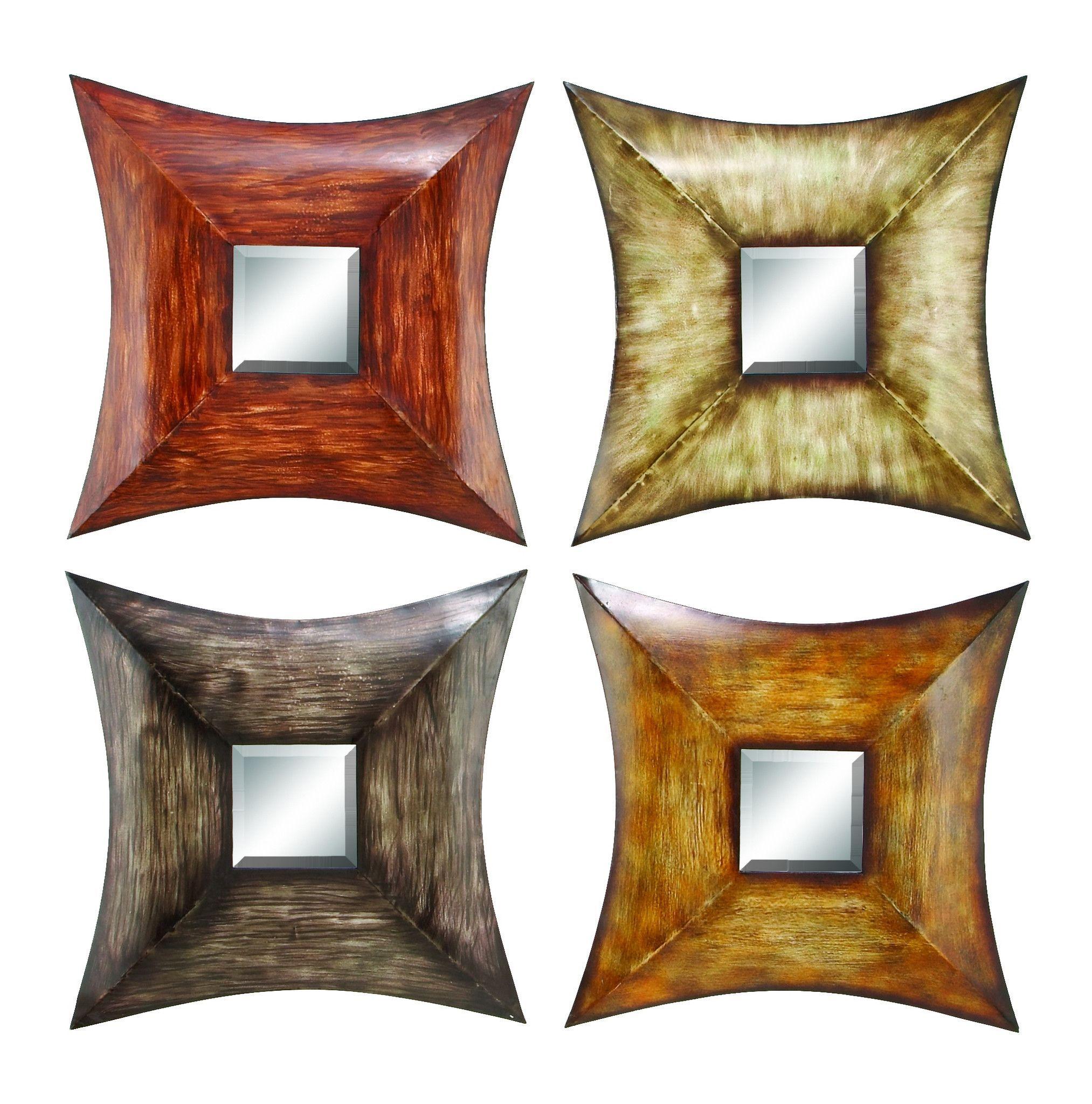 Metal mirr decor asst a set of four products pinterest
