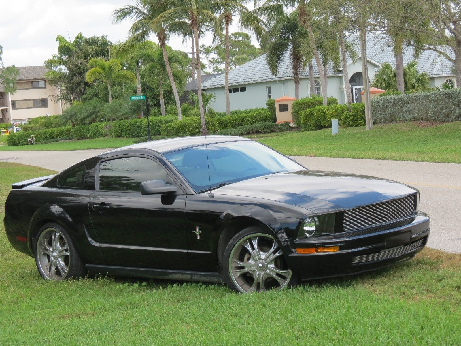 eBay: 2007 Ford Mustang Black 2007 Mustang Foose Grill Low Profile Tires  Low 78,457 miles
