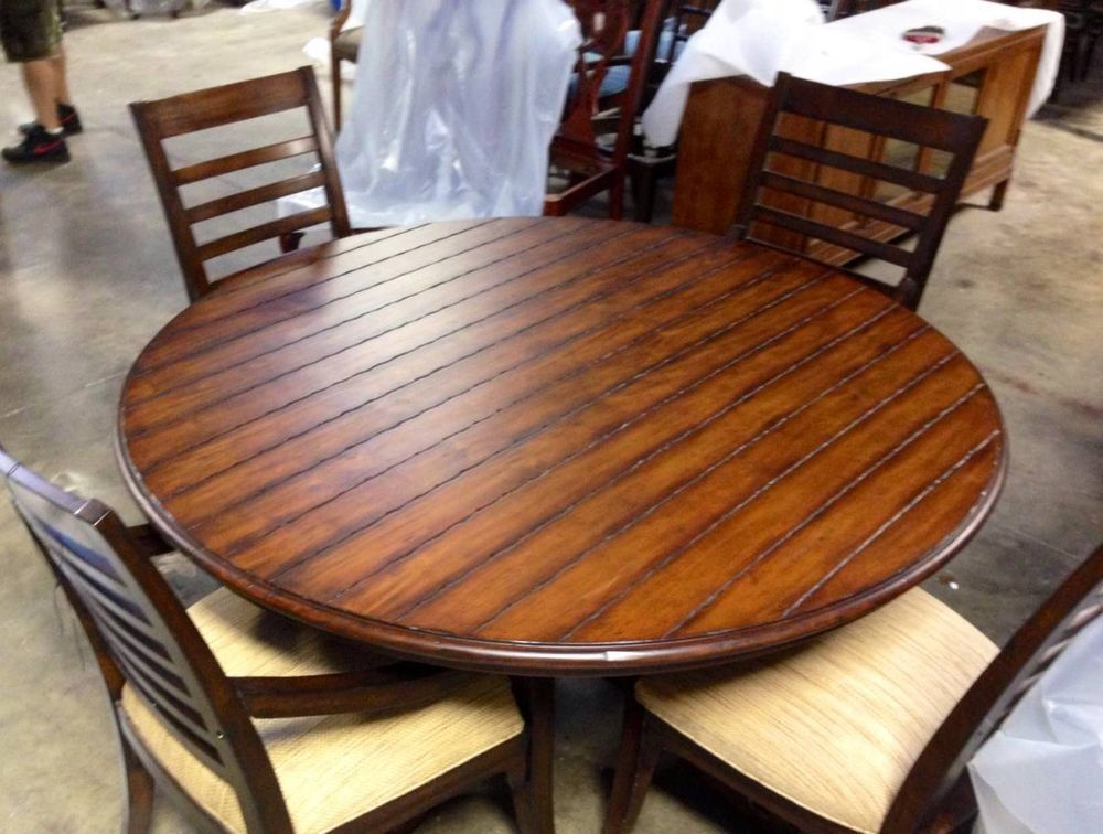 Braxton Culler Furniture 60 Inch Round Plank Top Dining Table Classy Plank Dining Room Table Inspiration Design