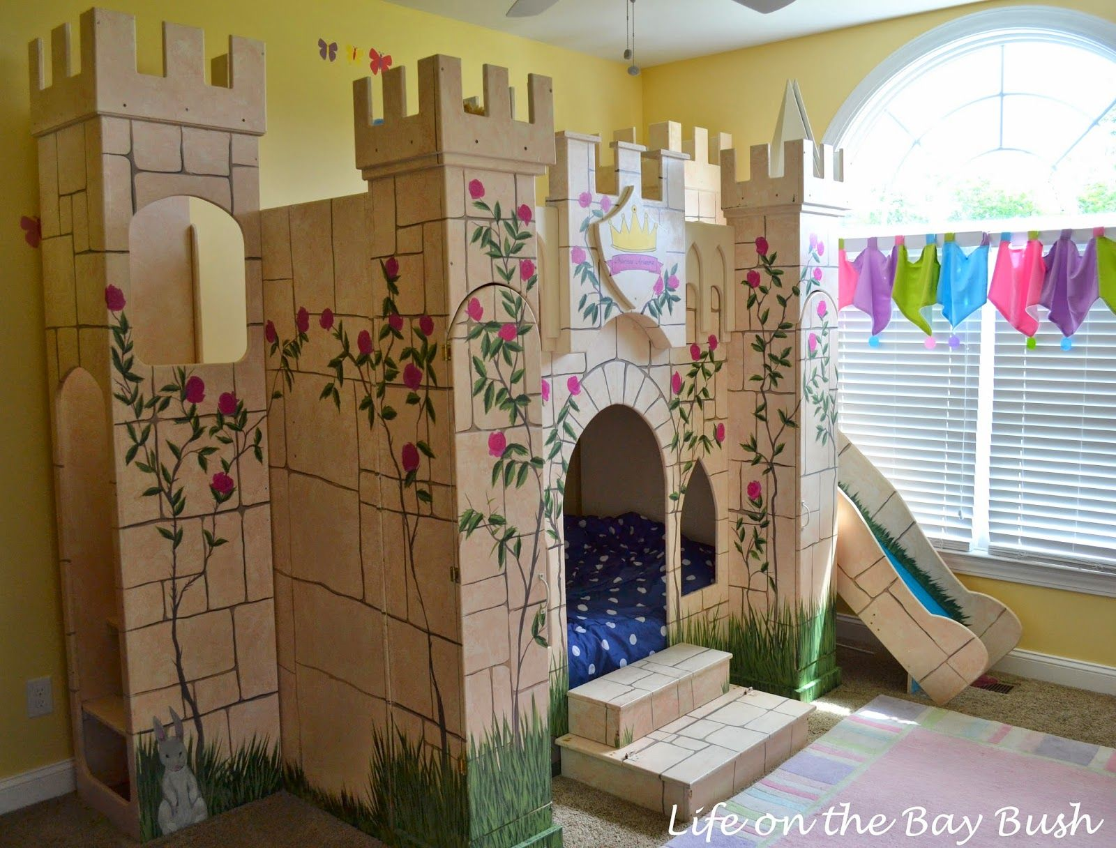 Castle bunk bed scored on craigslist bought to bribe kids for Castle kids room