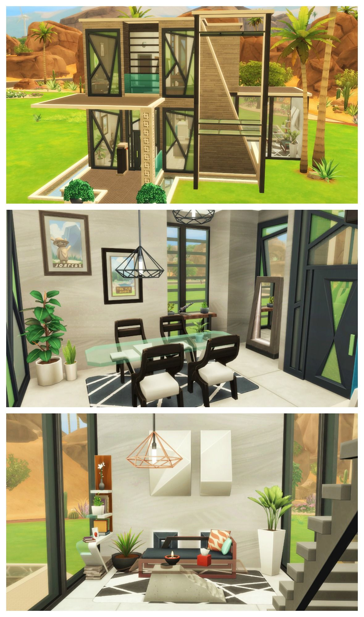 FITNESS MODERN HOUSE Sims 4 House Build