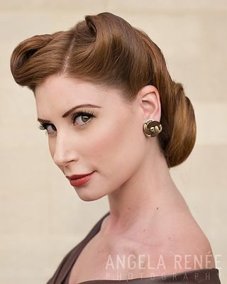 40 S Updo Vintage Hairstyles Retro Hairstyles 1940s Hairstyles