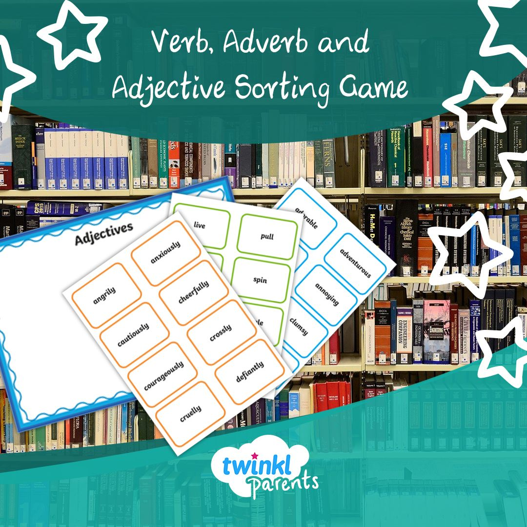 Verb Adverb And Adjective Sorting Game Ages 6