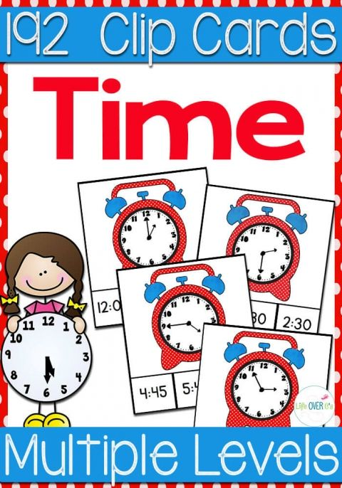 192 printable time clip cards 2nd grade shenanigans counting coins math activities telling. Black Bedroom Furniture Sets. Home Design Ideas