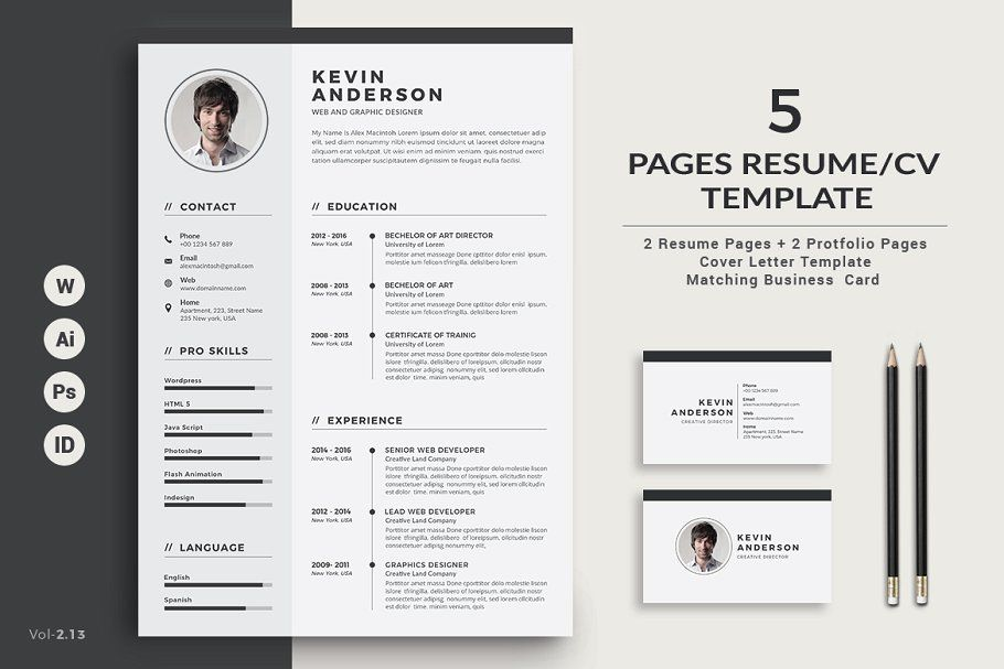 Pages Cv Template from i.pinimg.com