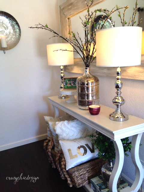 Styling A Console Table Create Height And Balance With