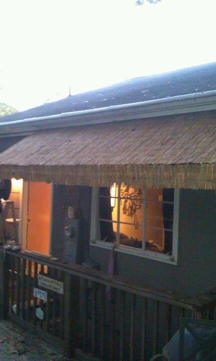 Bamboo awning | Diy awning, Pergola shade, Backyard patio
