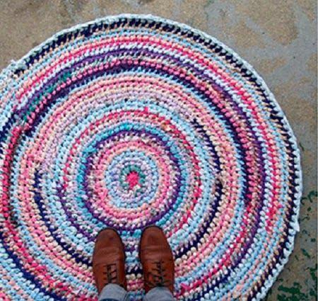 Tapetes de tela crochet buscar con google curiosidades - Alfombras de plastico ...