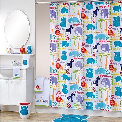 Allure Home Creations Safari Animal Bathroom Accessories Collection Animal Shower Curtain Shower Curtain Decor