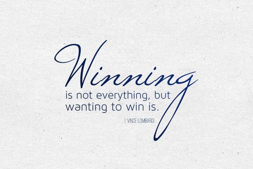 so is it good to be a winner?