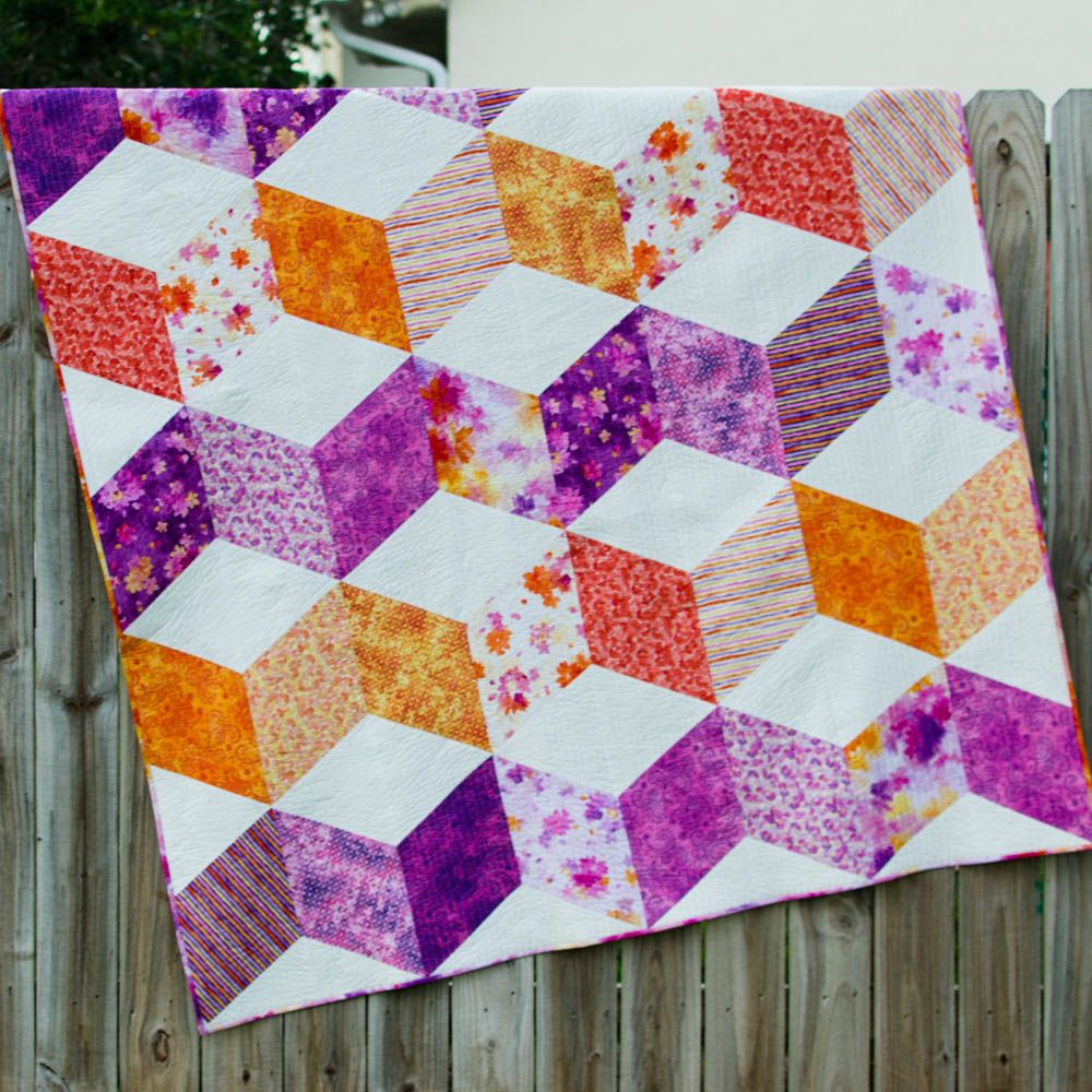 Sparkle Quilt free pattern for a gorgeous zig zag quilt Zig zag