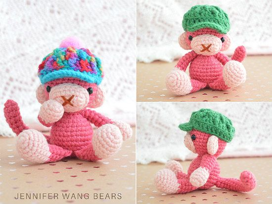 Free Pattern Crochet Monkey Hats Crochet Monkey Hat Monkey Hat