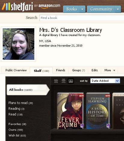 A digital card catalog I put together for my classroom library:  http://www.shelfari.com/mrsdclassroomlibrary/shelf