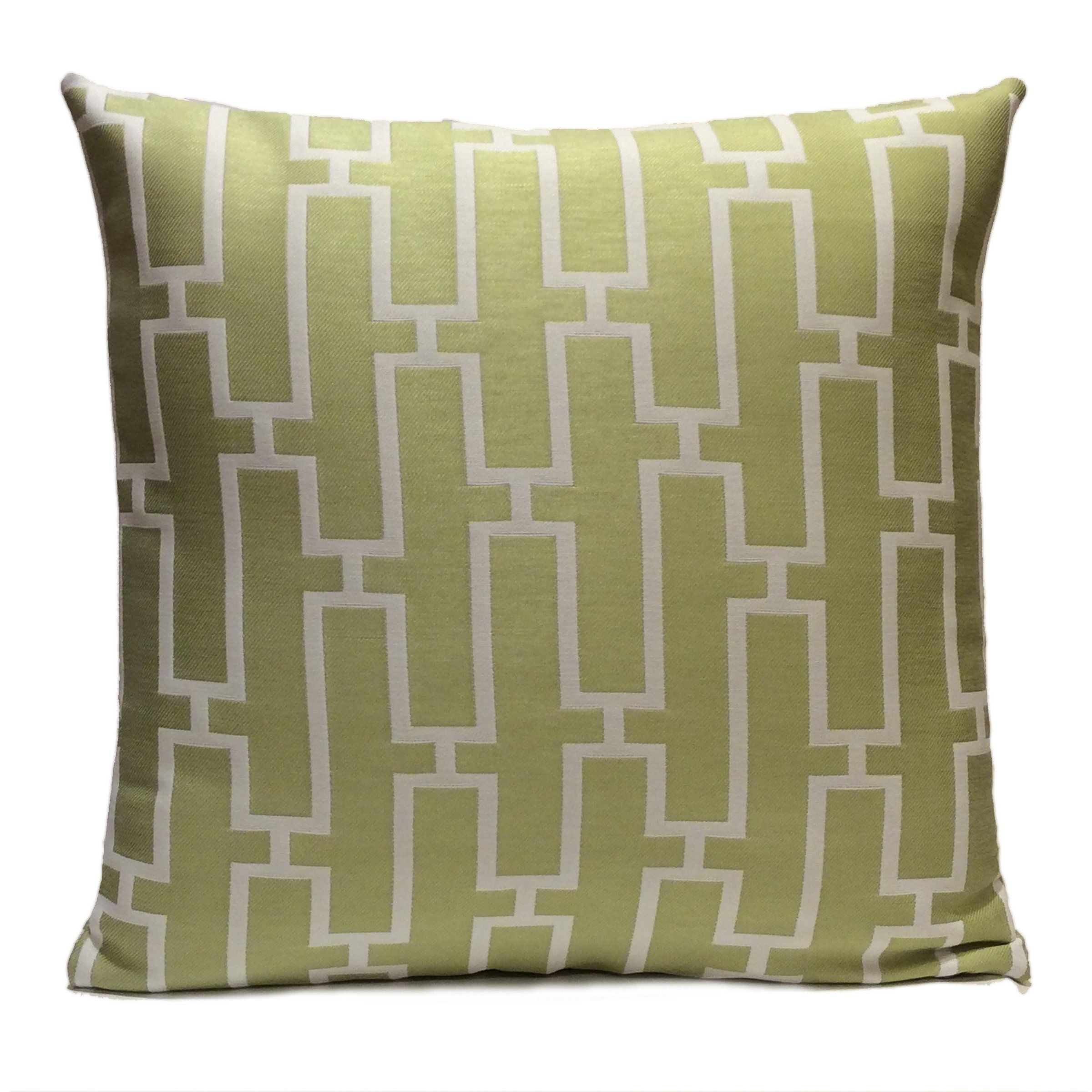 White and lime green pillow throw pillow cover decorative pillow