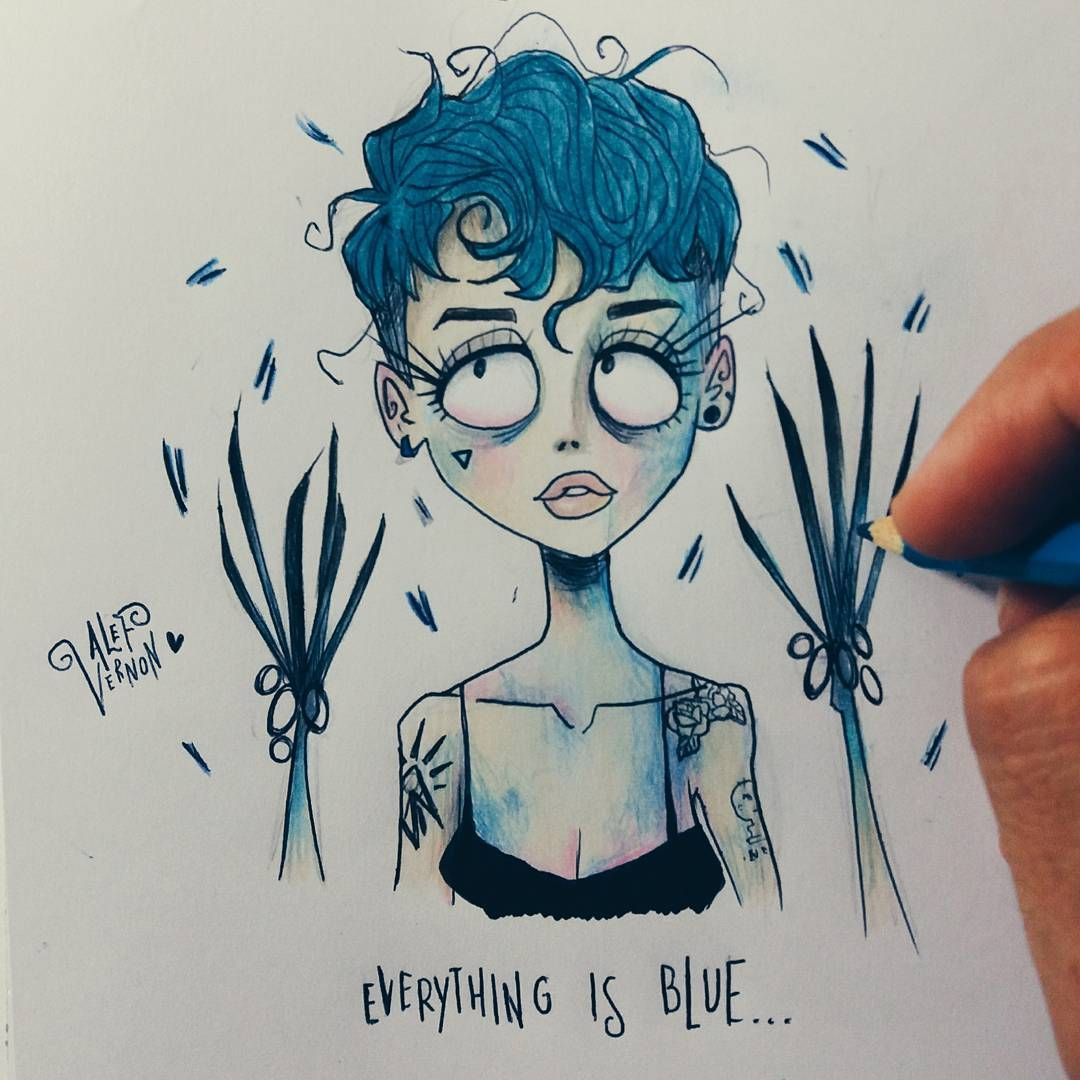Halsey In Tim Burton Style. Art. Drawings