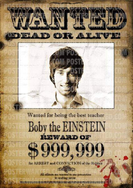 Real wanted signs can be made with wanted poster generator. Now you ...