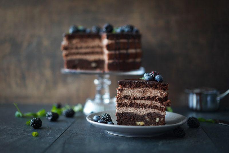 Sallys Rezepte Schokoladentorte Mit Brombeeren Blaubeeren