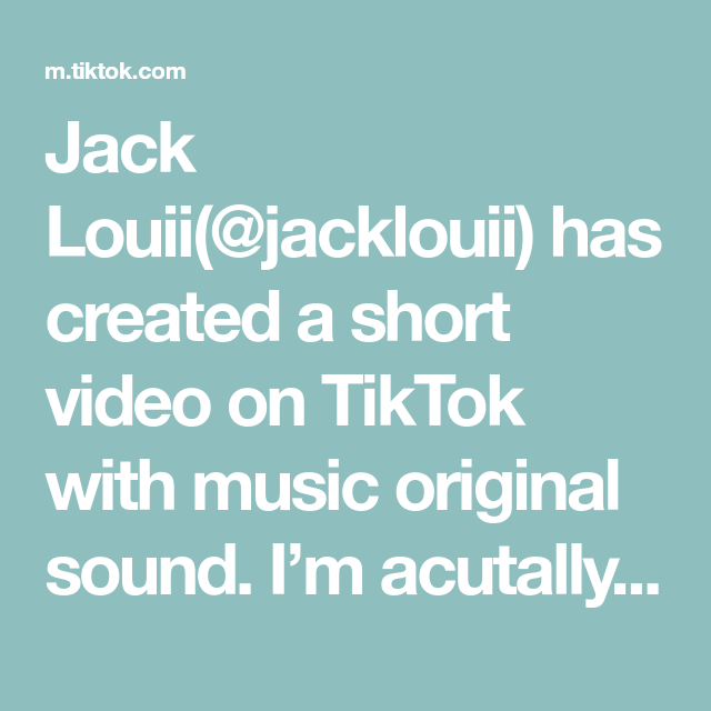 Jack Louii Jacklouii Has Created A Short Video On Tiktok With Music Original Sound I M Acutally A Barber Not A Cook Music Songs Voice Effects Relatable