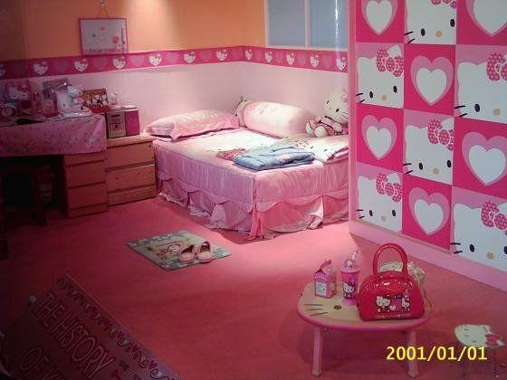Hello Kitty Bedroom, Room Themes, Cute Wallpapers, Bedroom Accessories, Room  Kids, Photo Wallpaper, Bedroom Designs, Bedroom Ideas, Kitty Cats