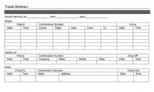 Travel itinerary template #travelitinerarytemplate #disney #travel