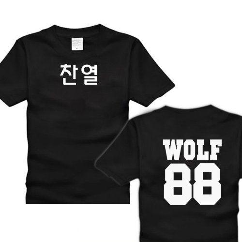 EXO KPOP Accessories Wolf T-SHIRT 88 Korean Name LUHAN KAI ...