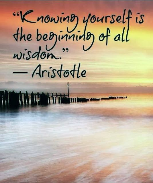 Knowing yourself is the beginning of all wisdom | Anonymous ART of Revolution