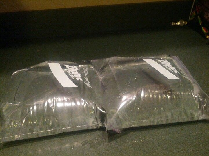 Freeze zip lock bags of water for prep of a storm. Keeps ...