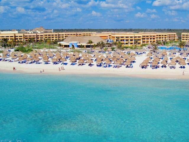 Beautiful Beach On The Caribbean Coast Of Mexico