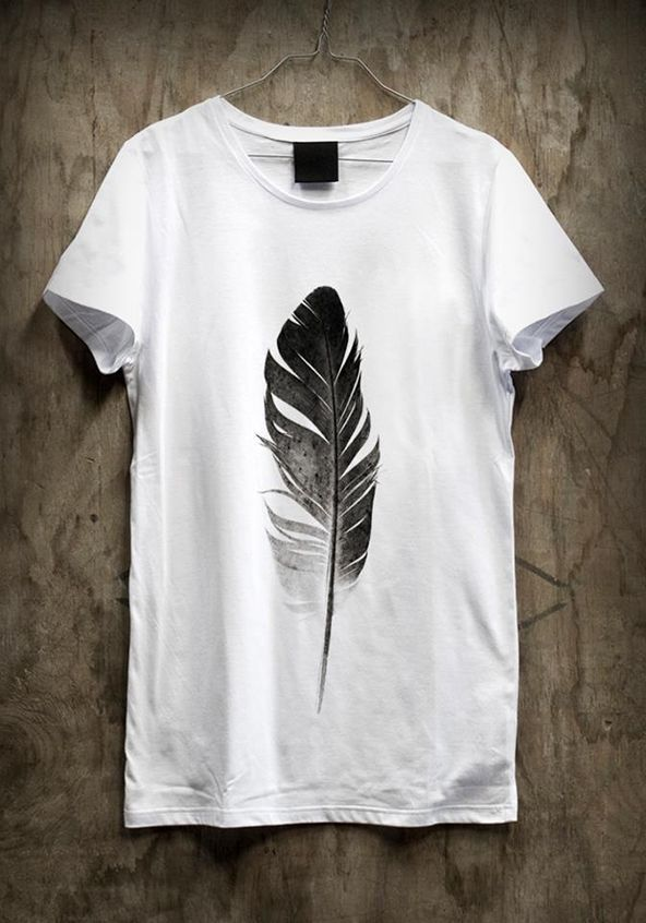97674e6fb4d48 T-shirt printing   design inspiration   TshirtTuesday Week 1  tees  feather