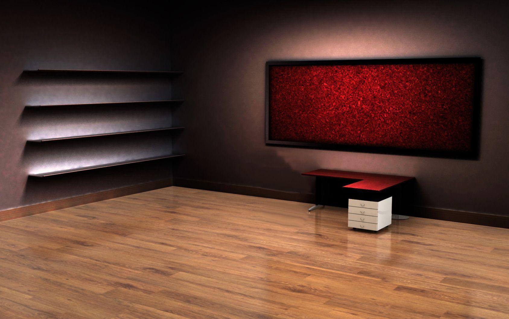 Hd Exclusive Sfondo Desktop Con Scrivania E Scaffali Sfondo