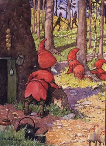 Gnomes in the woods... (Ernest Aris)