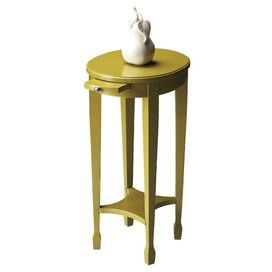 Chartreusse Lime Side Table #chartreusse #lime #side #accent #table