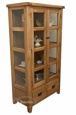 Rustic Oak Vancouver Premium Tall Display Cabinet Living Room Furniture  Van 002 Part 80