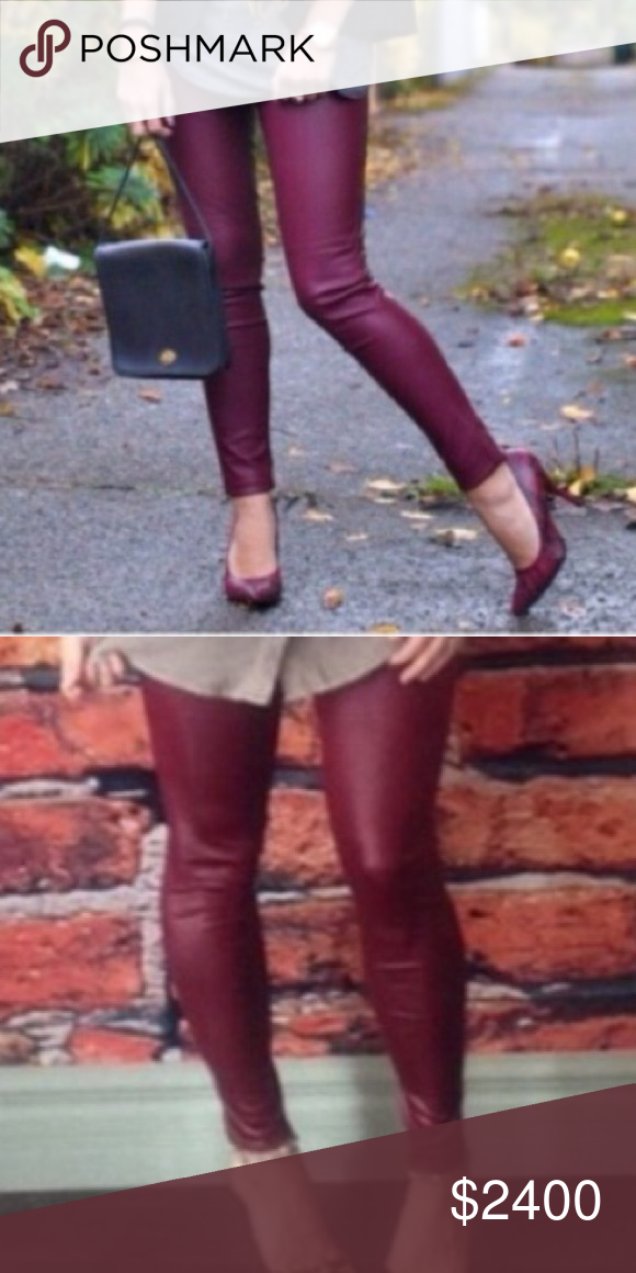 🦋COMING SOON🦋Burgundy Leather Look Leggings• 🦋COMING SOON🦋will be $24, like this listing to be notified arrival.  Fits up to a size 10 comfortably. Pants Leggings
