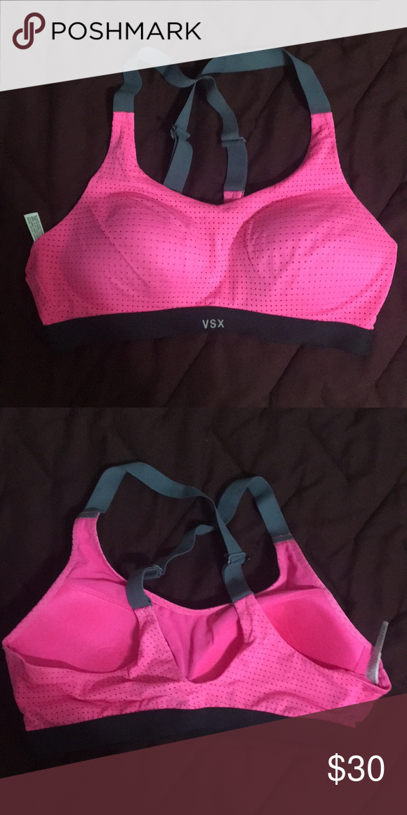 7c5a0b4d21a8c Pink Sports Bra  Victoria s Secret Only worn and washed once. Size 34B. Pink