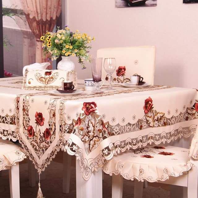 أشكال أكثر من رائعة ديال Les Nappes للطاولات المستطيلة موقع يالالة Yalalla Com عالم المرأة بعيون مغربية Christmas Table Linen Table Cloth Tablecloth Dining