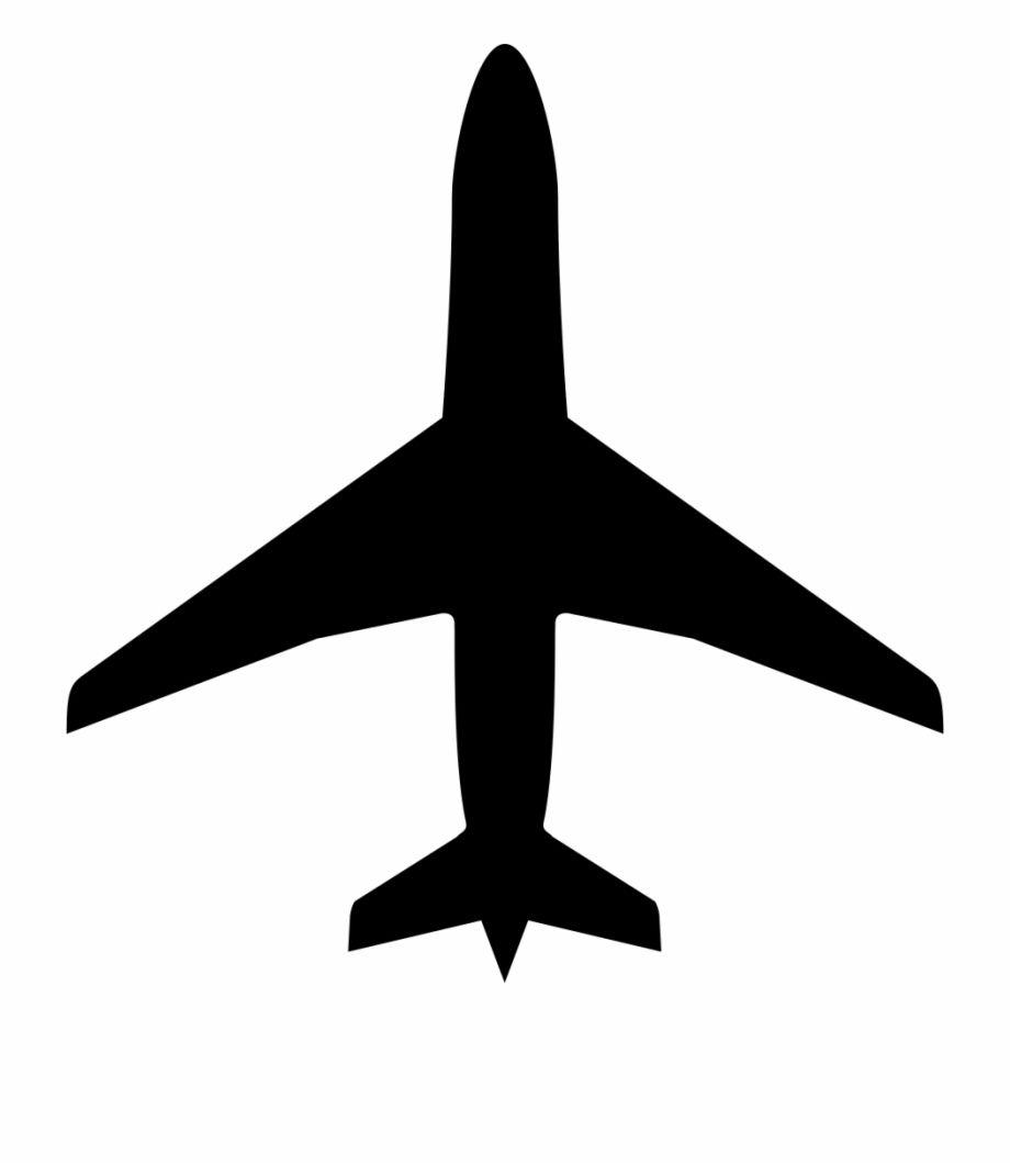 Png Airplane Black Black And White Cartoon Airplane Silhouette Airplane Icon