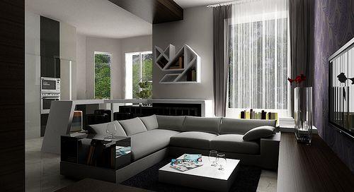 Salas modernas en espacios peque os alcobas pinterest for Decoracion de alcobas modernas