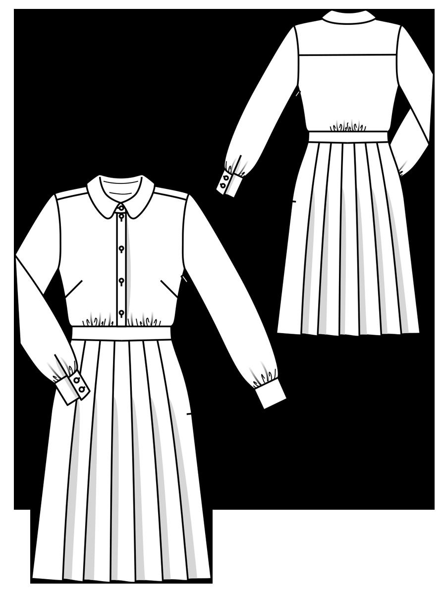 Викрійка Сукня-сорочка зі спідницею в складку  купити викрійки ... 1fc29da653fec