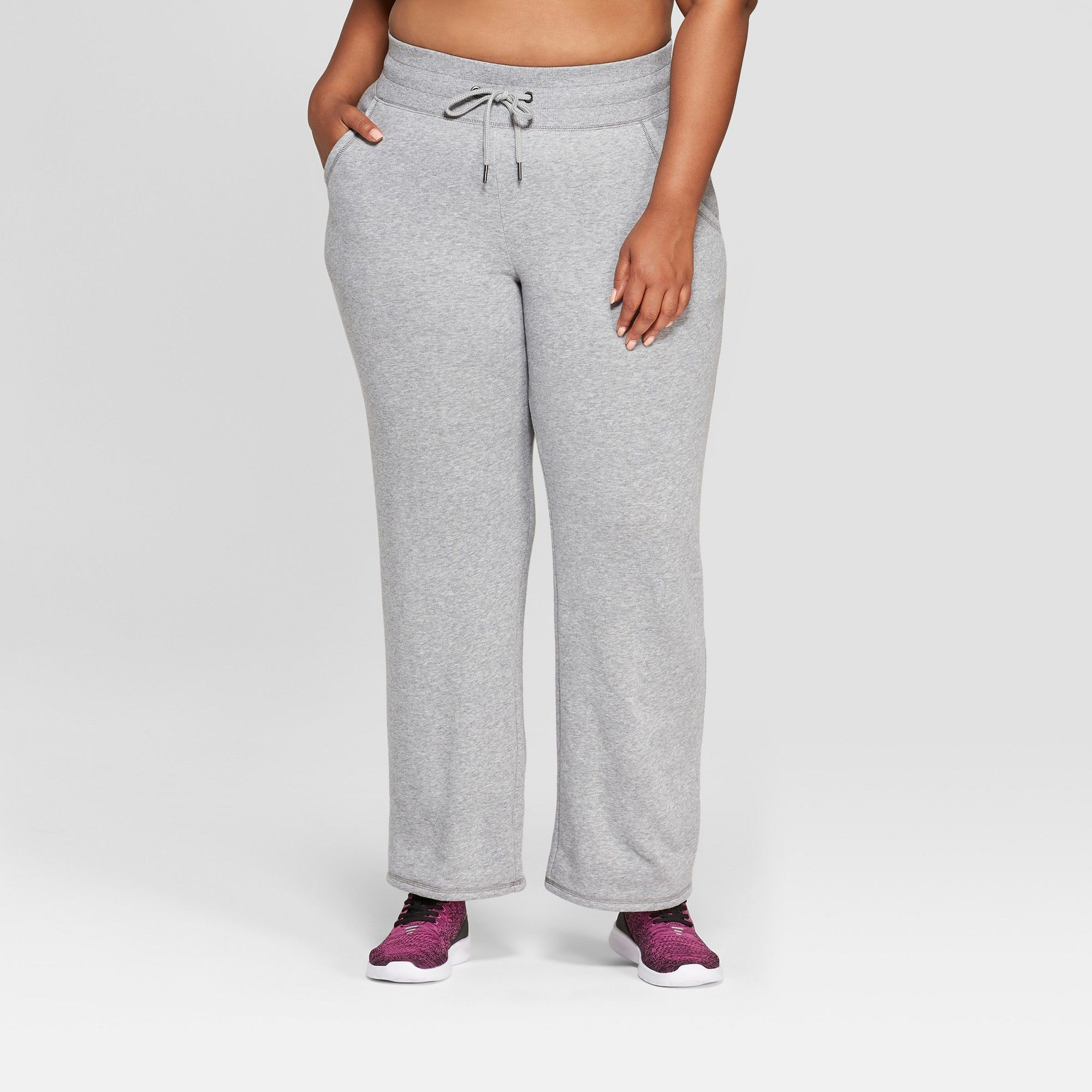 Women s Plus Size Authentic Fleece Sweatpants - C9 Champion Heather Grey 1X 3599784dd