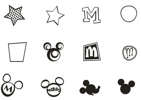 vector mickey mouse signs eps file