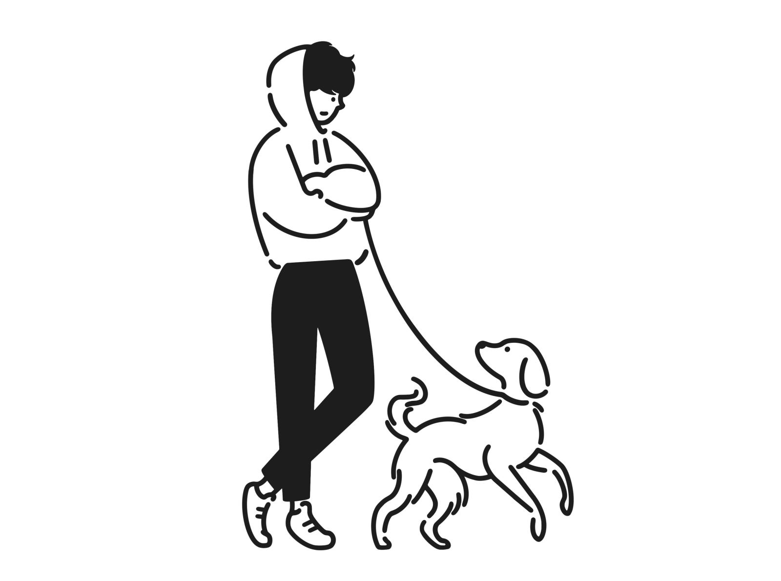 Boy And Dog Dog Line Art Line Art Drawings Mini Drawings