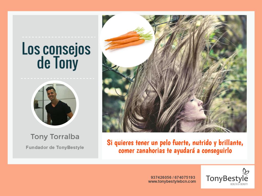 Fortalecer el cabello y las uñas es una de las muchas propiedades que tiene la zanahoria.  Al ser una hortaliza rica en betacaroteno y provitamina A, se convierte en un perfecto reparador de las células dañadas por el paso del tiempo, la contaminación, etc.    Así que... ¡A comer zanahorias!    Mantener una dieta sana y equilibrada nos ayuda a evitar muchos problemas de salud y a sentirnos mejor por dento y por fuera.  ¡En #Tonybestyle nuestro nutricionista te puede asesorar!     + info y…
