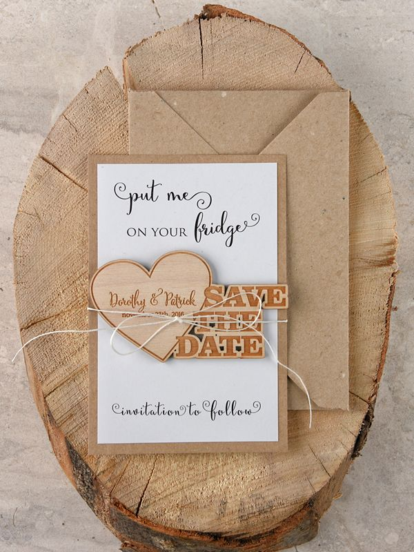 Save The Date Wedding Card Custom