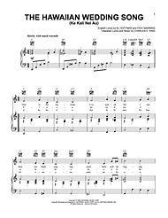 The Hawaiian Wedding Song Ke Kali Nei Au Digital Sheet Music Songs Sheet Music