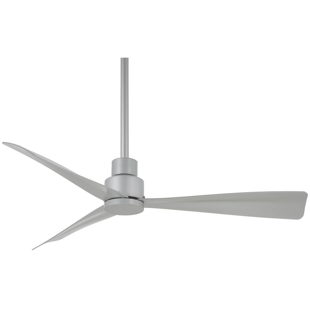 Minka Aire Simple 44 In Indoor Outdoor Silver Ceiling Fan With