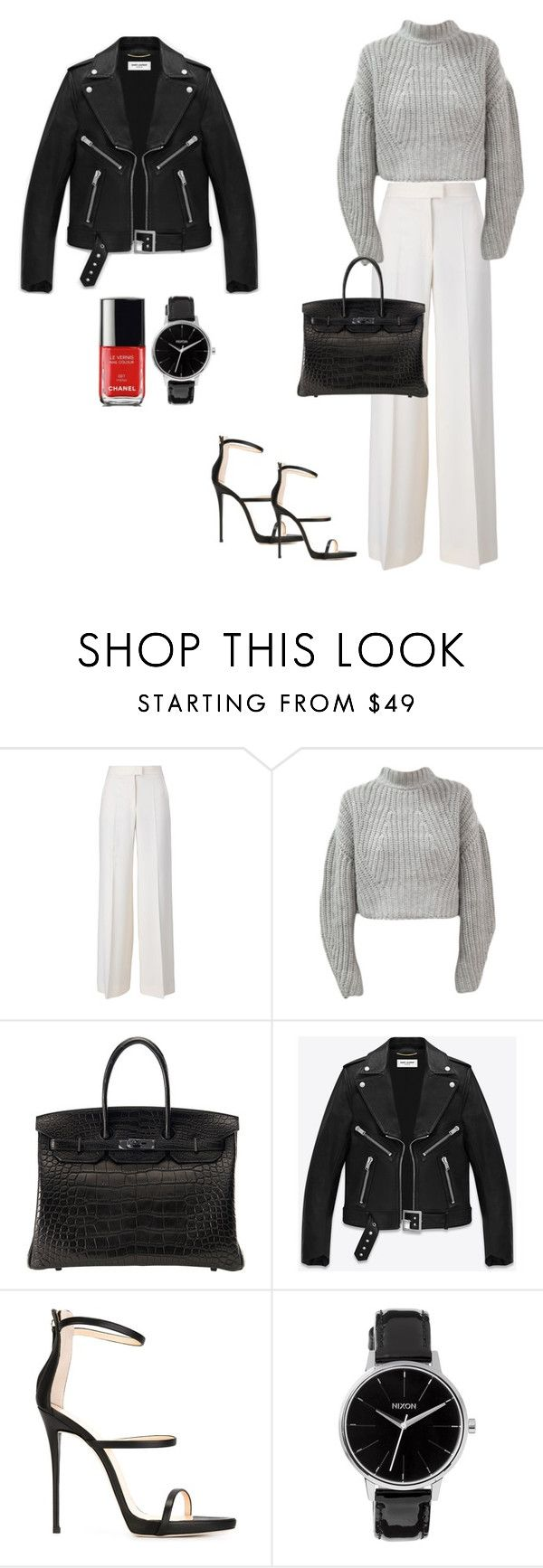 """"" by moonlightsam ❤ liked on Polyvore featuring STELLA McCARTNEY, Hermès, Yves Saint Laurent, Giuseppe Zanotti and Nixon"