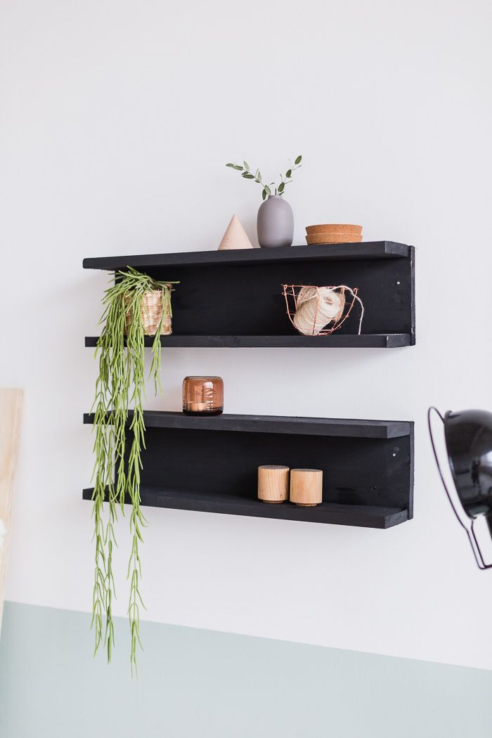diy painted wooden shelving home diy and decor ideas diy rh pinterest com