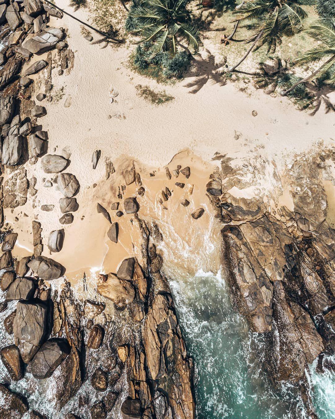 Pin On Yulneverroamalone Instagram Drone aerial shot trees beach coast