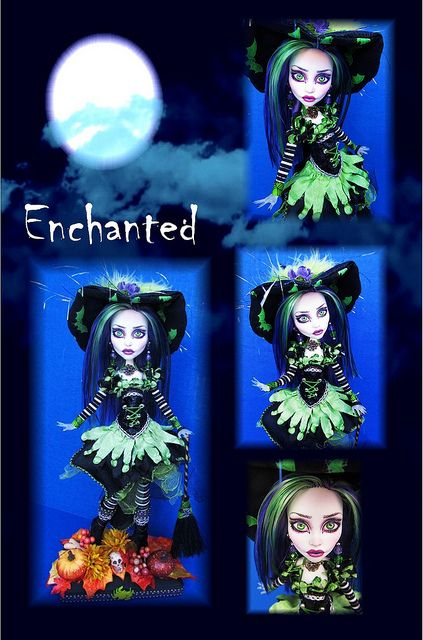 Spectra Witch OOAK Doll   Flickr - Photo Sharing!